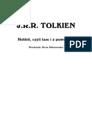 Tolkien Jrr Hobbit Czyli Tam I Z Powrotem