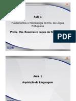 PED5 Fundamentos Metodologia Lingua Portuguesa Teleaula1 Slide1