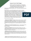 Chiropractic Medicare Audit Top 10 Audit Triggers