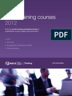 RICS Training Courses Ebrochure