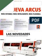 Catalogo Holz-Her chapadoras nueva serie Arcus
