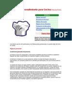 Manual de Procedimiento Para Cocina