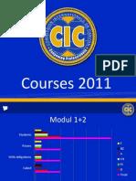 Powerpoint-Präsentation zu den CIC-Ausbildungskursen 2011