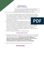 Nursing Care Plan 1 risk for violence, self directed