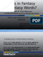 Words in Fantasy.oo