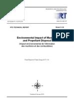 wpływ niszczenia ammo na srodowisko