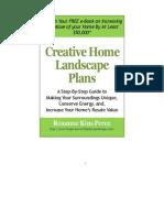Creative Home Landscape Plan E Book