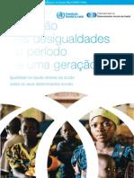 relatorio OMS desigualdades em saúde