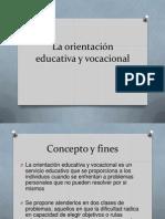 La Orientacion Educativa y Vocacional