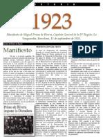 PRIMO DE RIVERA 1923