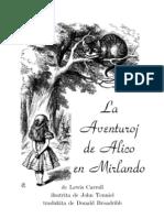 Lewis Carroll La Aventuroj de Alico en Mirlando