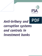 Anti Bribery Investment Banks