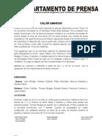 Nota de Prensa Guaros-gaiteros Juego # 1 28-03-2012