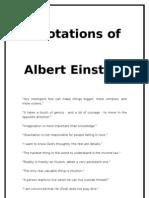 quotation of einstien