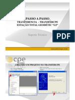 Passo a passo para transferência de dados pelo TransferCPE - Estação Total G5