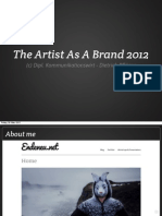 The Artist As A Brand 2012