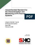 IEA SHC Task35 PVT Test Standard Recommendation