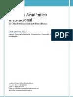 Regimen Academico Danza 2012