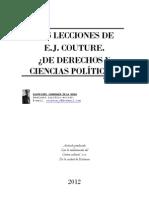 LAS LECCIONES DE E.J. COUTRE. ¿DE DERECHOS Y CIENCIAS POLITICAS?. por