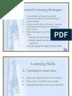 General Listening Strategies