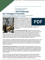 Grande Folla in Sant'Ambrogio Per l'Omaggio a Facchetti - Cal..