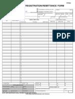 FPF060Members Registration Remittance Form