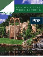 Eastern Wood Fence Brochure