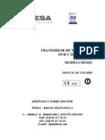 Transmisor 20 w Uhf Btd21 Txdvbt20w Rev.00 Nov-03