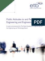 Public Attitude Perceptions Engineering Engineers 2007