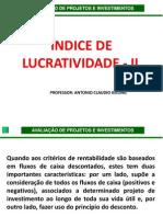 ÍNDICE DE LUCRATIVIDADE - IL