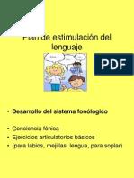 Plan de estimulación del lenguaje