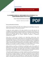 VOLPI Franco - El Hombre Entre El Nihilismo de La Tecnica y La Responsabilidad Etico-politica