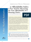 The Affordability Index