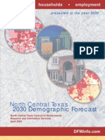 Demographic Report - North Texas 2030 Demographic Forecast - And Before