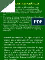 Bio estratigrafia :biozonas