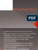 Cospus Linguistics and Pragmatics