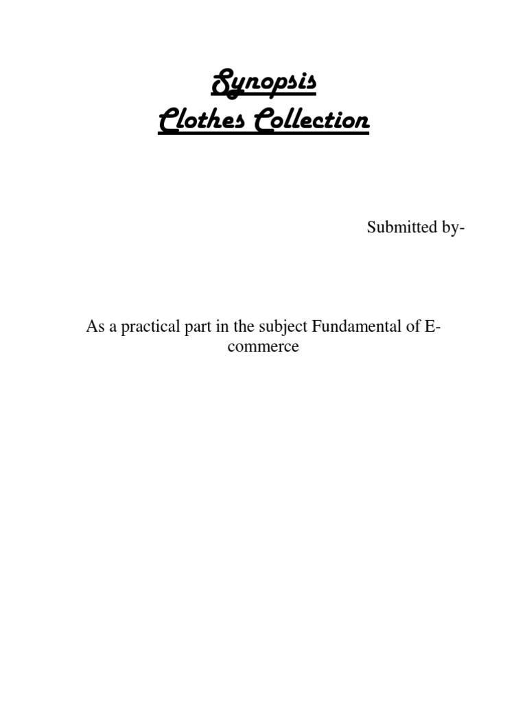 Dissertation for e commerce