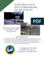 Emergency. Disaster. Preparedness.survival.) 7 Day Supply Calendar