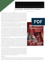 Social Advertising Strategic Outlook 2012-2013 China, 2012