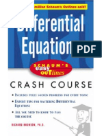 Bronson R. Differential Equations Crash Course (Schaum's Easy Outlines, MGH)