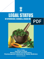 Legal Status of Ayurveda, Siddha, Unani Medicines - Book