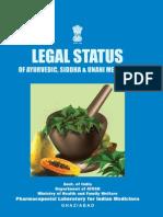 Legal Status of Ayurveda, Siddha, Unani Medicines - Book