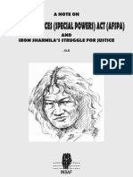 A note on AFSPA & Irom Sharmila's struggle for Justice