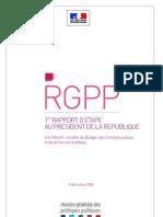 1er Rapport Etape RGPP