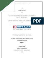 Analysis Customer Relationship Hdfc Bank