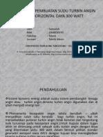 Rancangan Pembuatan Sudu Turbin Angin Type Horizontal Daya
