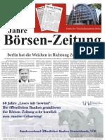 60 Jahre Börsen-Zeitung  -  Partner des Wirtschaftsstandortes Berlin