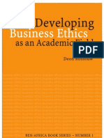 Developing Business Ethics as Academic Field