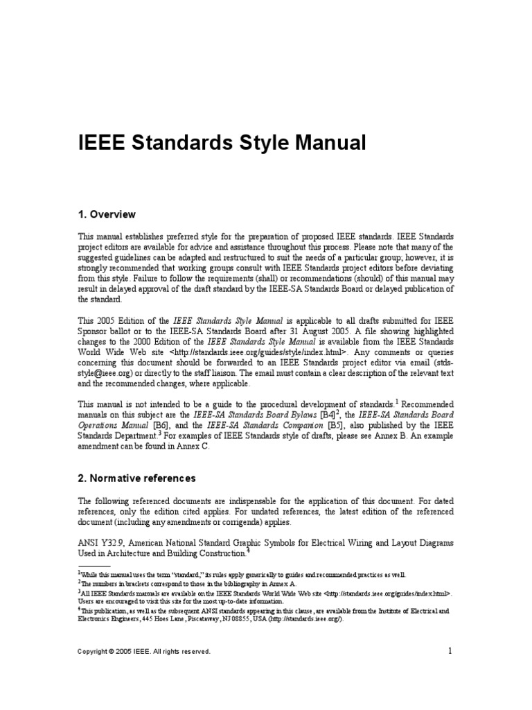 ieee standards style manual citation trademark rh scribd com ieee standards style manual pdf IEEE Standards Testing