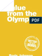 Boris Johnson 2012 Olympic Manifesto